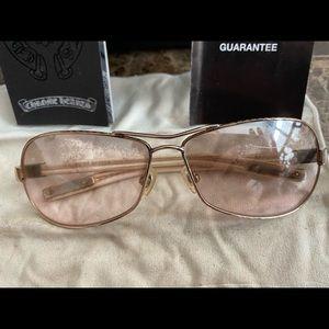 Chrome Hearts 🔥Red Riot white sunglasses